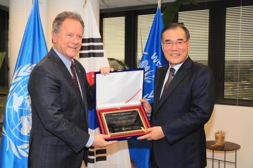 """""""WFP, 한국에 감사패…식량 수혜국서 공여국 된 유일한 나라"""""""