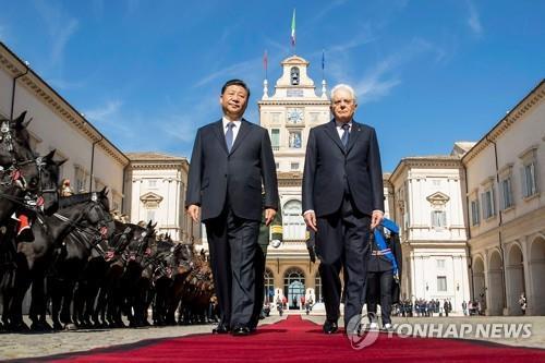 이탈리아, 국빈방문 시진핑에 '황제급' 예우 '눈길'