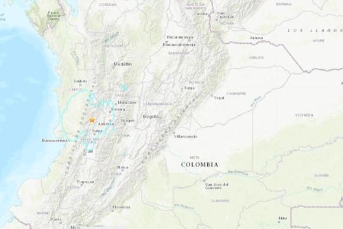 """콜롬비아 서부서 규모 6.1 강진…""""인명피해 없어"""""""