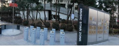 방탄소년단·트와이스 핸드프린팅, 잠실운동장에 설치