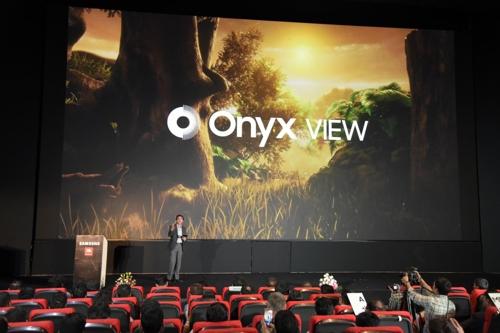 삼성, 인도서 세계 최대 '영사기 없는 LED 영화관' 공개