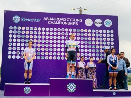 사이클 이주미, 아시아도로선수권 도로독주 은메달