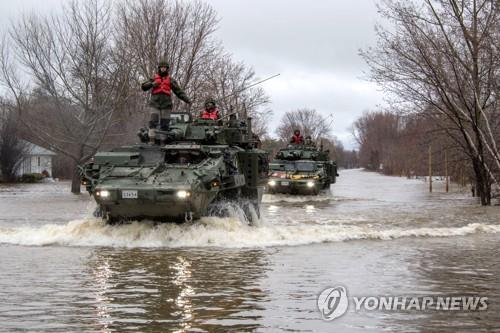 캐나다 동부 홍수 곳곳서 수천명씩 대피…군 병력 2천명 투입