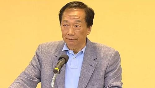 """대만 대선출마 궈타이밍 """"中 위협 시 폭스콘 공장 이전할 것"""""""