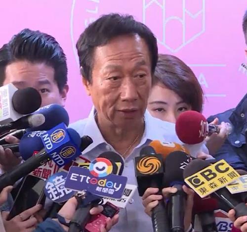 """궈타이밍 """"국민당 경선 떨어져도 훙하이 회장 자리 안 돌아가"""""""