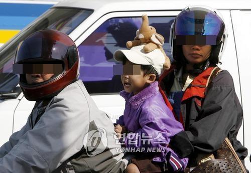 오토바이 때문에…태국 아동·10대 매년 1만7천명 도로서 사망