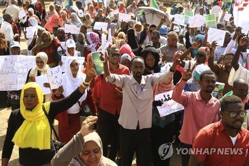 아프리카 수단 권력이양 협상 난항…시위대, 총파업 예고