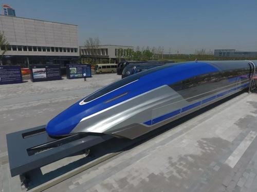 중국, 최고 시속 600㎞ 자기부상 열차 공개