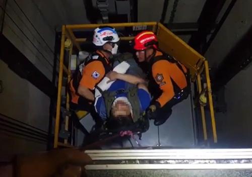 승강기 작업하던 30대 근로자, 지하로 추락해 부상