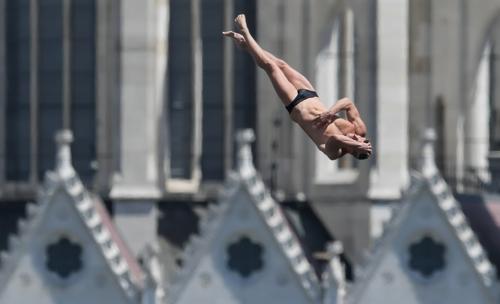 광주세계수영대회 하이다이빙 최고 인기…입장권 96% 팔려