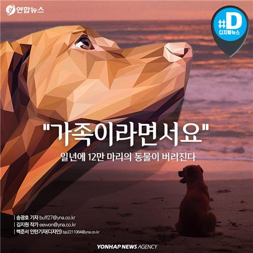 """[카드뉴스] """"가족이라면서요""""…1년에 12만 마리의 동물이 버려진다"""