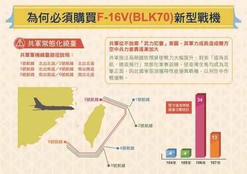"""차이잉원 """"美 F-16V 판매에 감사""""…1개 전투기 연대 창설"""