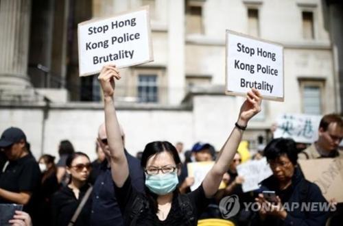 세계 곳곳에서 홍콩 '송환법 반대 시위' 지지 집회