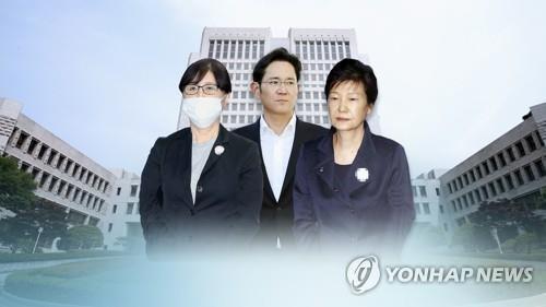 [1보] 대법, 박근혜·최순실·이재용 '국정농단' 사건 29일 선고