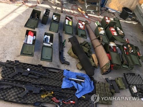 美경찰, 총기난사 기도 호텔 요리사 체포…총기·탄약 다량압수