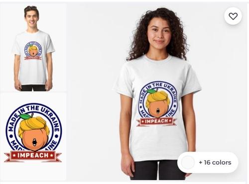 탄핵 특수…美온라인서 트럼프 비꼬는 디자인 의류 봇물