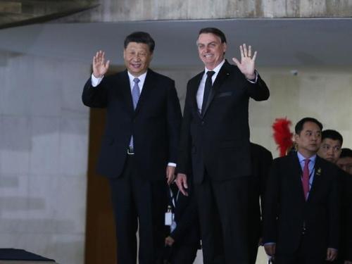 """中·브라질 정상 """"통상·투자 확대…일대일로 참여 협의 지속"""""""