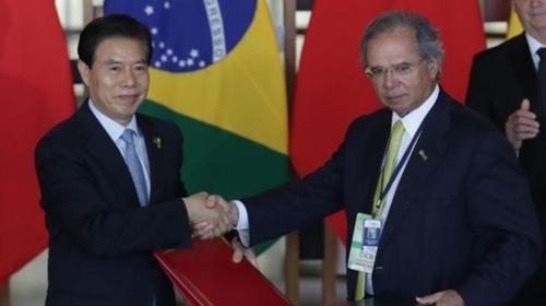 """브라질, 中과 FTA협상 추진 시사…""""글로벌 무역체제에 통합희망""""(종합)"""