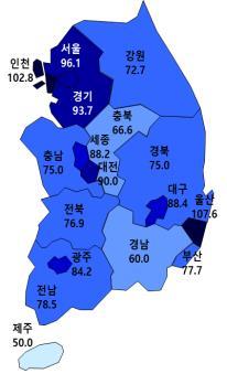 분양경기 기대감 혼조세…서울·경기 '위축', 울산 '만발'