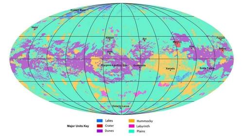 지구 닮은 생명체 탐사목표 1순위 '타이탄' 지형지도 완성