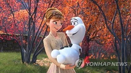 '겨울왕국2' 끊임없는 기록행진…추수감사절 흥행 신기록 초읽기