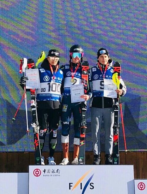정동현, 중국 극동컵 스키대회 남자 회전 준우승