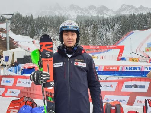 정동현, 알파인 스키 월드컵 스위스 대회 21위…시즌 최고 성적