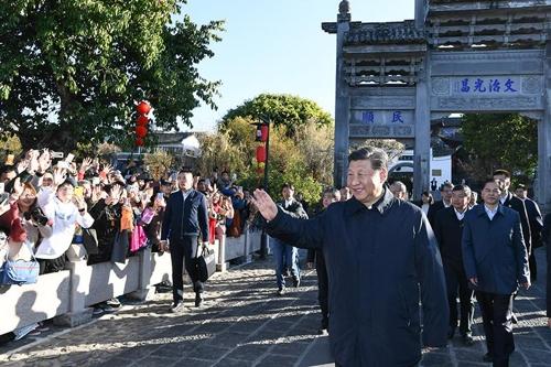 시진핑, 춘제 앞두고 윈난 시찰…민심 챙기기 행보