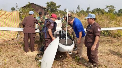 캄보디아 남서부에서 중국산 추정 정찰용 드론 추락