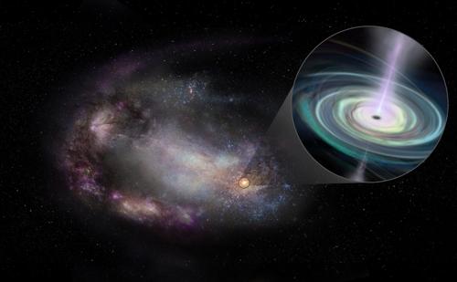 대형 블랙홀이 외곽 떠도는 왜소은하 무더기 관측