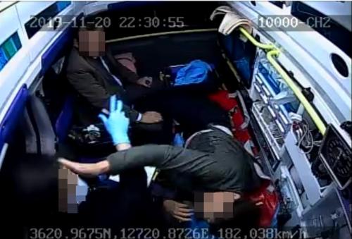 출동한 119 구급대원 폭행 50대 남성 징역형