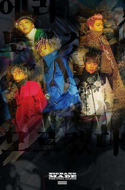 """En la imagen, proporcionada, el 13 de diciembre de 2016, por YG Entertainment, se muestra el póster del nuevo álbum del grupo de música surcoreano Bigbang, """"MADE The Full Album""""."""