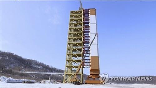 La plataforma de lanzamiento en Dongchang-ri en Corea del Norte (foto de archivo)