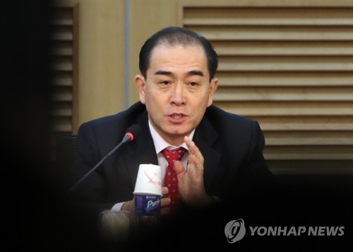 El exdiplomático norcoreano de alto rango Thae Yong-ho, quien desertó a Corea del Sur en 2016. (foto de archivo)