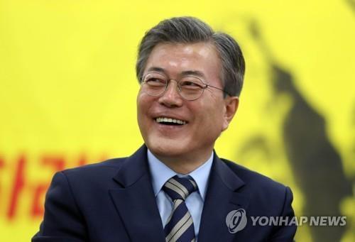 El candidato presidencial Moon Jae-in del Partido Democrático (foto de archivo)