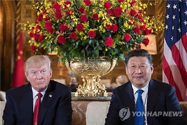 El presidente de EE. UU., Donald Trump (izda.), y su homólogo chino, Xi Jinping (foto de archivo)