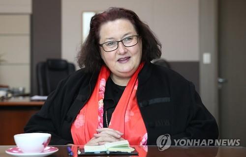 Clare Fearnley, embajadora de Nueva Zelanda ante Corea del Sur (foto de archivo)