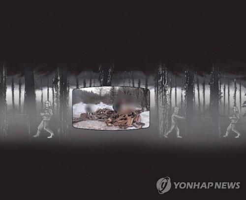 Imagen proporcionada por Yonhap y la Misión Caleb que muestra parte de la obra.