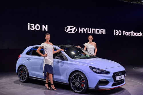 El i30N de Hyundai Motor en el Salón del Automóvil de Fráncfort 2017 (foto cortesía de Hyundai Motor Co.)