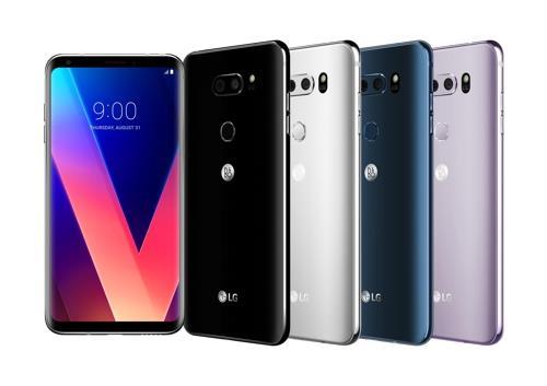 El teléfono inteligente V30 de LG Electronics Co. (foto de archivo)