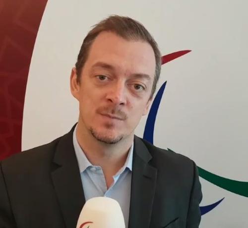 La foto, capturada de la página web del Comité Paralímpico Internacional (CPI), muestra a su nuevo jefe, Andrew Parsons.