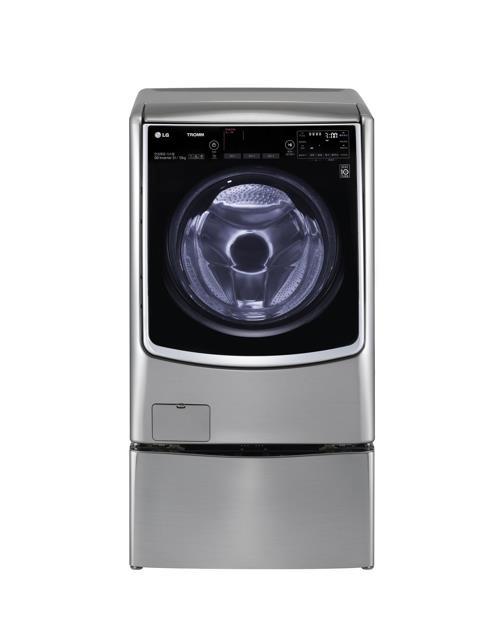 La lavadora Tromm de LG Electronics Inc., donada a la Unión Surcorena de Ciegos, desvelada por la firma el 17 de octubre del 2017. (Imagen proporcionada por LG Electronics)
