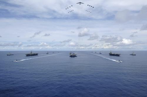 Inusual ejercicio de EEUU y Corea del Sur con 3 portaaviones