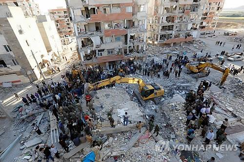 Un área afectada por el fuerte terremoto del 12 de noviembre de 2017, en Irán, se encuentra en proceso de recuperación.