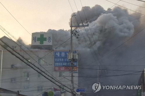 (2ª AMPLIACIÓN)- Un incendio en un hospital de Miryang deja varios muertos