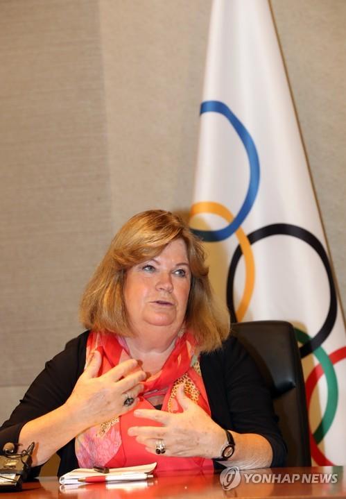 Gunilla Lindberg, directora de la Comisión de Coordinación del COI para los Juegos Olímpicos de Invierno de PyeongChang