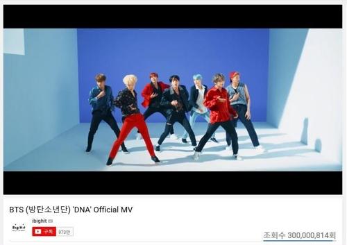 En la imagen proporcionada, el 7 de marzo de 2018, por Big Hit Entertainment se muestra el vídeo musical DNA en YouTube.
