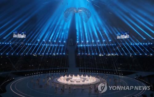 Los bailarines actuan durante la ceremonia de apertura de los Juegos Paralímpicos de Invierno de PyeongChang en el Estadio Olímpico en PyeongChang, provincia de Gangwon, el 9 de marzo de 2018.
