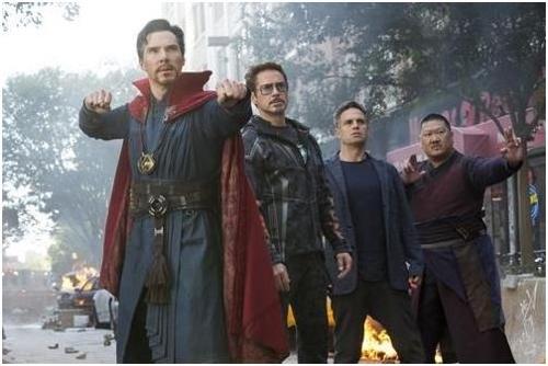 """En la imagen se muestra una escena de """"Los vengadores: Infinity War"""" proporcionada por Walt Disney Company Korea."""