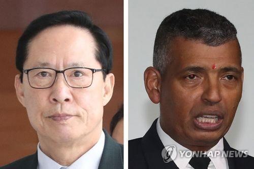 El ministro de Defensa surcoreano, Song Young-moo (izda.) y el general Vincent Brooks, comandante de las Fuerzas Armadas Estadounidenses en Corea del Sur